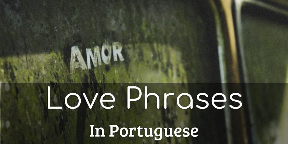 Love phrases in Portuguese